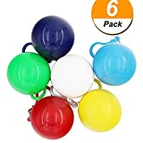 Genenic Disposable Rain Ponchos,Thicker Emergency Raincoats Portable Hook Poncho Ball Outdoor Activities(6 PACK)