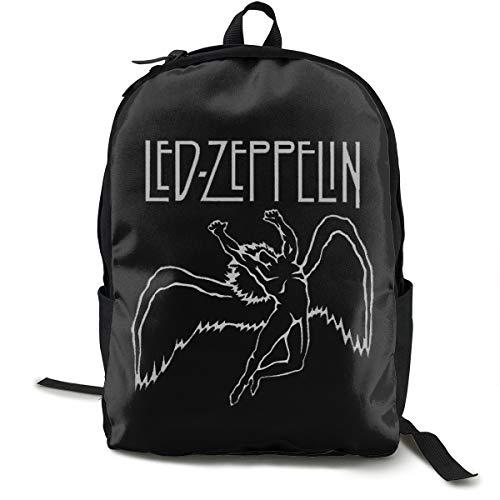 Led-Zeppelin Backpack for Women Men, Canvas College Student