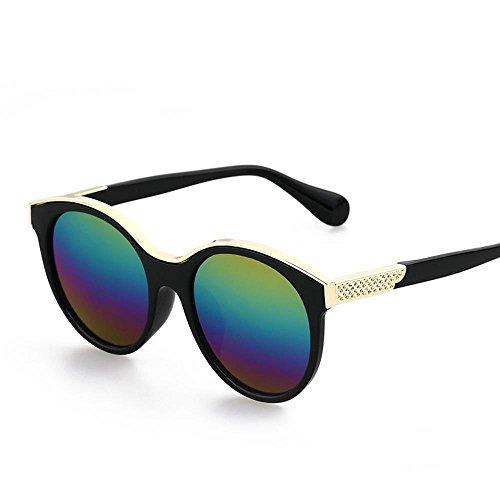 Aoligei Lunettes de soleil rétro mode lunettes réfléchissantes de couleur vive E