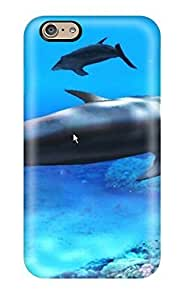 New Kimberly M Taylor Super Strong Beautiful Free Living Dolphins Three Dolphins Tpu Case Cover For Iphone 6 by supermalls