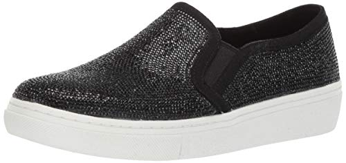 Skechers Women's Goldie-Flashow. Small Tonal Rhinestone Slip on Sneaker, Black, 6.5 M US ()