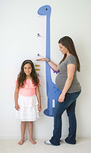 Oversize Planner by ABI Digital Solutions Dinosaur Growth Chart for Kids - Height Chart Wall Decal - Kids Height Wall Chart ()
