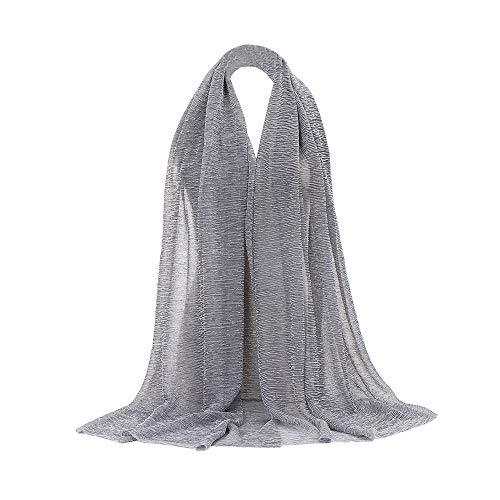 Women Solid Color Long Soft Wrap Scarf Shawl Scarf
