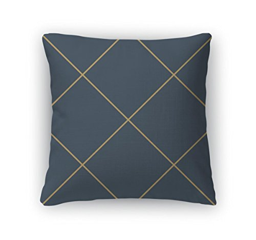 Gear New Throw Pillow Accent Decor, Pattern With The Mesh Grid Abstract Geometric Rhombuses Wallpaper, 20