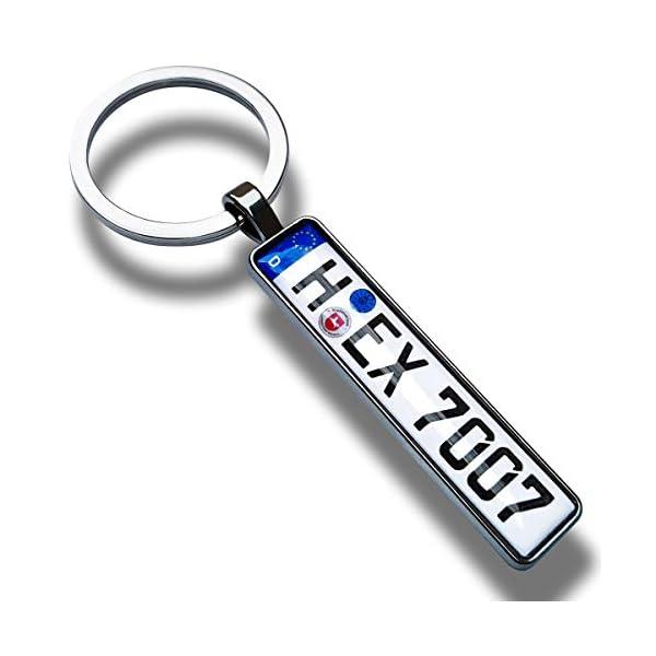 416R9RNfo4L Internetservice Timo Lindner Personalisierter Kennzeichen-Schlüsselanhänger in Anthrazit Nummernschild Autokennzeichen…
