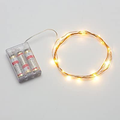 AVAWO LED Christmas Lights String - Warm White 7ft 20leds LED Lights Fairy lights Ultra Thin String Copper Wire LED Light Strings AA Battery Powered For Christmas Wedding and Party, indoors
