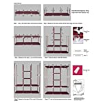 Maison & Cuisine 6+2 Layer Fancy and Portable Foldable Collapsible Closet/Cabinet (Need to Be Assembled) (88130) (Wine…