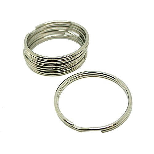 (Scuba Choice Diving 51mm Stainless Steel 2.5mm Split Ring for BCD Attachment 5 Piece Pack)