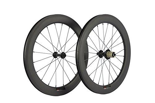 "Sunrise Bike 22"" BMX Road Bike Clincher Wheel 451C Carbon Wheelset Powerway R13 Hub"
