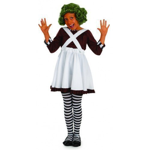 Girls Kids Child's Oompa Loompa Book Day Week Halloween Fancy Dress Costume Outfit (4-6 Years) -