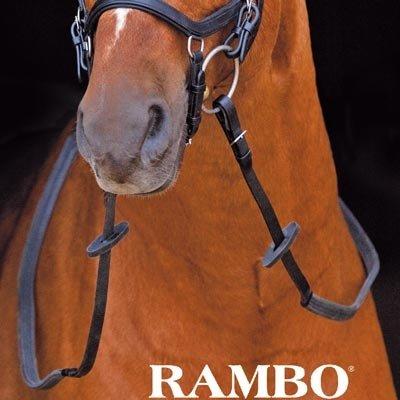 Rambo Micklem Rubber Reins Horse Black (Rambo Type)