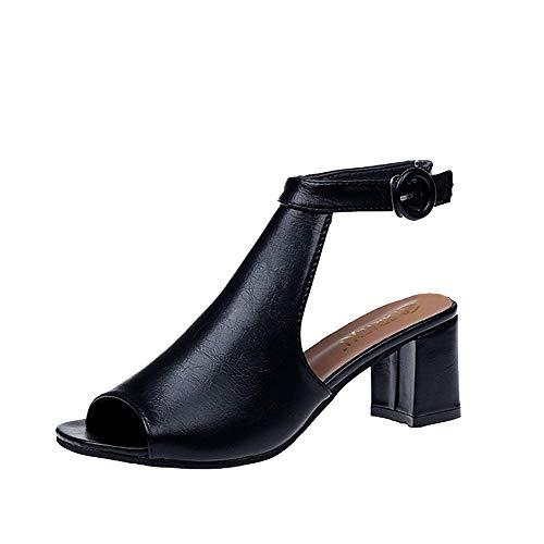 2019 Sandales Amazon À Talon Chaussures Plate De Subfamily Noir zMVpSU