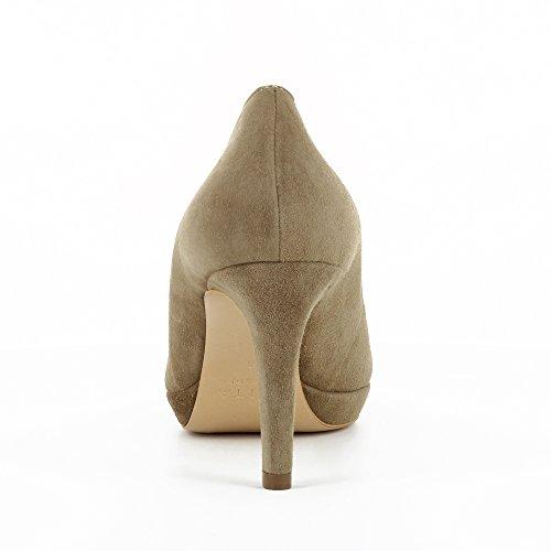 Evita Talpa Décolleté Bianca Shoes Donna Suede qr6aqXzvxw
