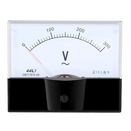 uxcell AC 0-300V Analog Panel Voltage Gauge Volt Meter 44L1 1.5% Error Margin