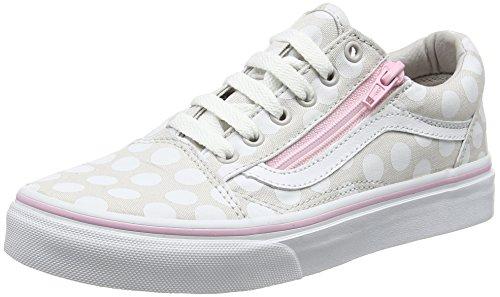 Vans Mädchen UY Old Skool Zip Sneaker Grau (Polka Dot Wind Chime/pink Lady)