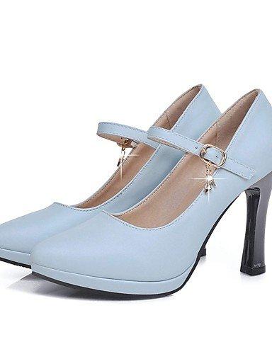 GGX/ Unisex / Damen / Herren / Mädchen-High Heels-Hochzeit / Büro / Kleid / Lässig / Party & Festivität-Mikrofaser-Stöckelabsatz-Absätze-Blau blue-us8.5 / eu39 / uk6.5 / cn40