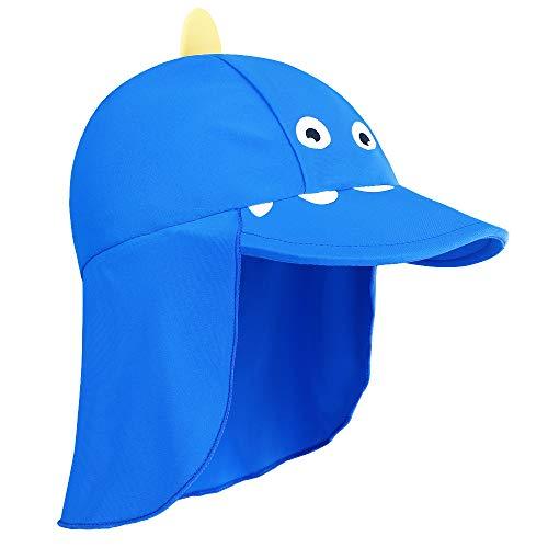 HUAANIUE Baby Toddler Sun Protection Hat UPF 50 + Swim Hat RoyalBlue 2-4 T