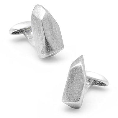 CUFFLINKS INC Pewter Spike Cufflinks (Silver)