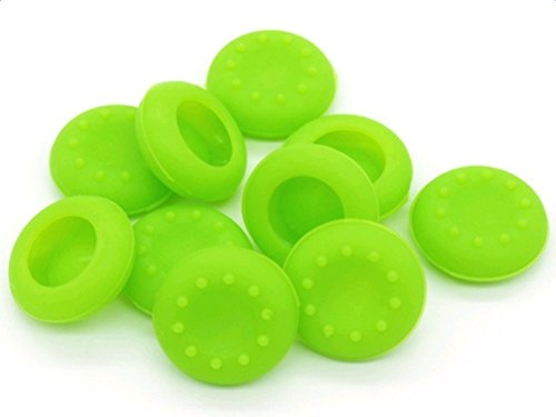 Green Pop Thumb (Freedi 10PCS Thumb Grips for PS3 PS4 XBOX 360 One Game Accessories Silicone Analog Controller Joystick Stick Grips Cap Cover Green)