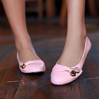 Cómodo y elegante soporte de zapatos de las mujeres de piel sintética al aire libre oficina y carrera Casual Flat Heel otros negro verde rojo blanco negro