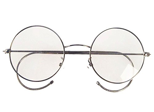 Agstum Retro Round Optical Rare Wire Rim Eyeglass Frame 53mm (X-Large size) (Gunmetal, 53mm)