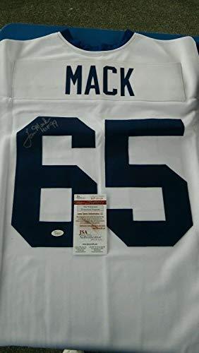 JSA Authentic Autographed Signed Autograph Tom Mack La Rams Vintage Replica Road Jersey M