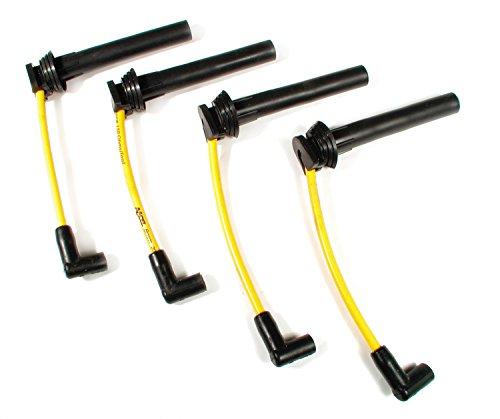 ACCEL 7964Y 300 Plus ThunderSport Yellow Ferro-Spiral Spark Plug Wire Set