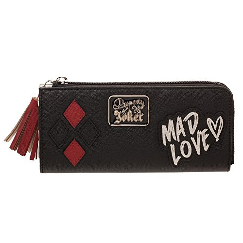 DC Comics Harley Quinn Mad Love Zip Around Wallet Clutch from Bioworld