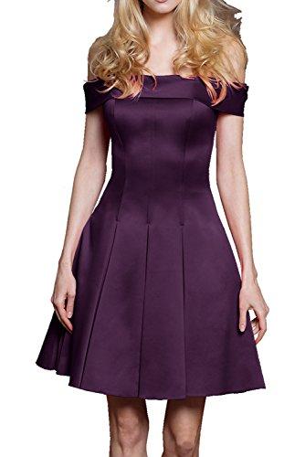Kurz Pink Ivydressing Chic Grape Partykleider Neu Abendkleid 2017 Cocktailkleider Abiballkleider Satin 7xIAg