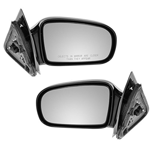 Black Side Manual Mirrors Pair Set for 95-05 Cavalier Sunfire 2 Door Coupe