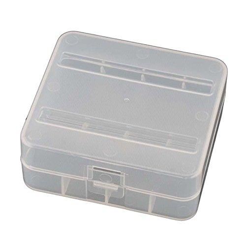 Hard Plastic Case Holder Storage Box for 26650 Battery Holds 2 Batteries