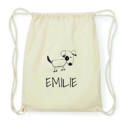 JOllipets EMILIE Hipster Turnbeutel Tasche Rucksack aus Baumwolle Design: Hund