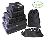 Packing Cubes,Travel Luggage Organizer,Suitcase Organizers Luggage Organizer Packing Cubes Suitcase Organizer 7 pcs