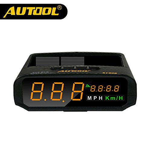 AUTOOL X100S Universal Car Solar Digital Meter GPS HUD Head Up Display KM/h MPH Overspeed Warning Altitude Speedometer