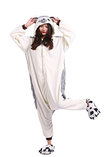 Hedgehog Wearing Costume (YUWELL Animal Cosplay Costume Unisex Adult Pajamas Sleepwear Kigurumi Hedgehog)