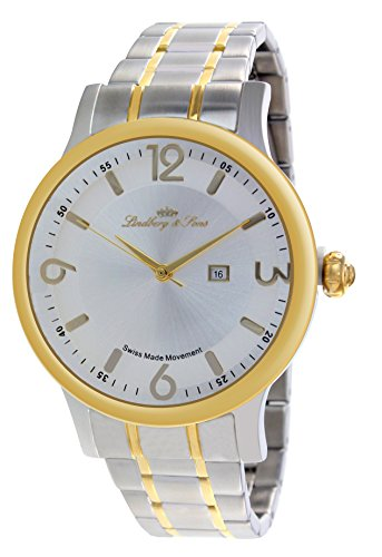 Lindberg & Sons Herren-Armbanduhr Quarz Schweizer Werk Analog Edelstahl - LSSM205B
