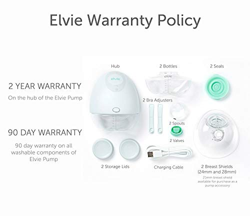 416RG9ULs4L - Elvie Pump Double Silent Wearable Breast Pump With App - Electric Hands-Free Portable Breast That Can Be Worn In-Bra