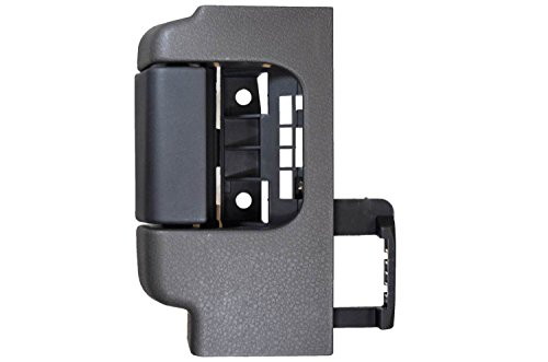 PT Auto Warehouse FO-2507AG-RR - Interior Inner Inside Door Handle, Gray (Stone) Housing with Black Lever - for Extended Cabs ONLY, Passenger Side Rear