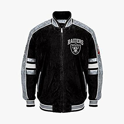 the best attitude ddcf7 4e01c Oakland Raiders Suede Jacket Leather NFL Raiders Coat Apparel asst sizes