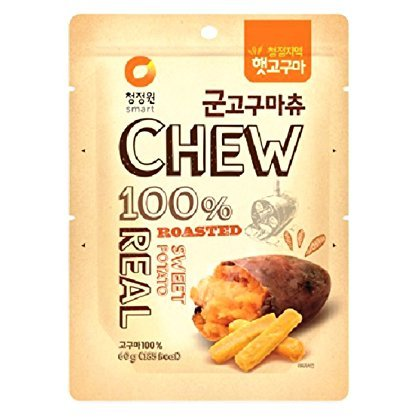 CJW Korean 100% Real Roasted Sweet Potato Snack 2.11 Oz - Chews (Pack of 3)