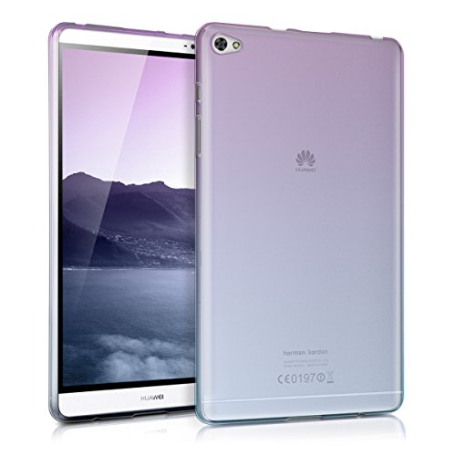 kwmobile Crystal case for Huawei MediaPad M2 8.0 TPU silicon case tablet protective case cover with Design two colours in violet blue transparent (Violet Design)
