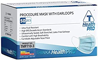 THINKA PROCEDURE MASK WITH EARLOOPS (50pcs) - Medical mask, ASTM L1 Approved Face Mask