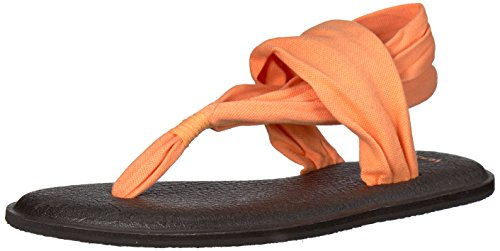 Sanuk Pay 2 Sling Yoga Papaya Tongs Orange Femme TT6rwv10