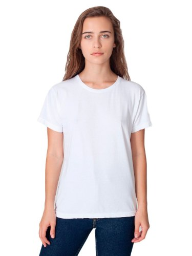 American Apparel Unisex Power Washed T-Shirt, White, Small