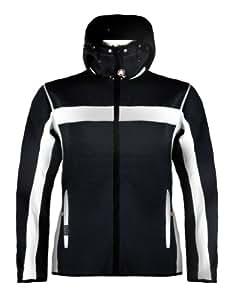 Dale of Norway Men's Totten Masculine Jacket, Black/Off White, Medium