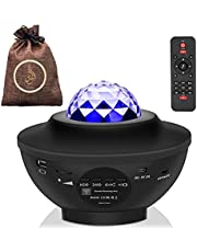 ALFARES Laser Star Projector,LED Night Light,Sky night[Galaxy]Projector with Nebula Cloud,Sky Ocean Wave Projection Speaker Voice for Party,Bedroom,LED Ceiling,3Lite Lamp Speeker&remote Kids,Adults