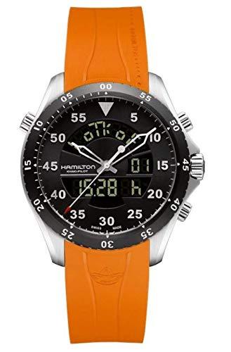 Hamilton Khaki Aviation Flight Timer Quartz Men's Quartz Watch H64554431 -