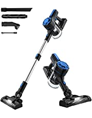 Advwin Cordless Vacuum Cleaner, 3 in 1 Powerful 7-12Kpa Motor Stick Vacuum, Lightweight Stick Hand Vacuum Cleaner with LED Light and Wall Bracket for Car Pet Hair Carpet Hard Floor(Blue)