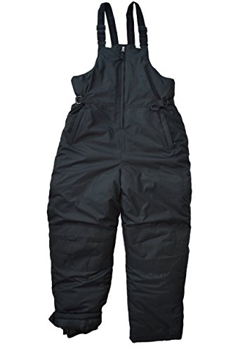 Snowsuits for Kids Unisex Youth Teen Insulated Bib Snow Pants Black (12-14) ()