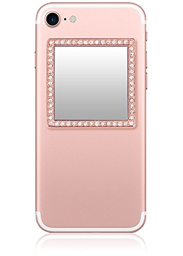 iDecoz Phone Mirror/Sticks on The Back of Your Phone or case. The Replacement for The Compact Mirror. Its The Best Way to Check Yourself Out On-The-Go! (Rose Gold)